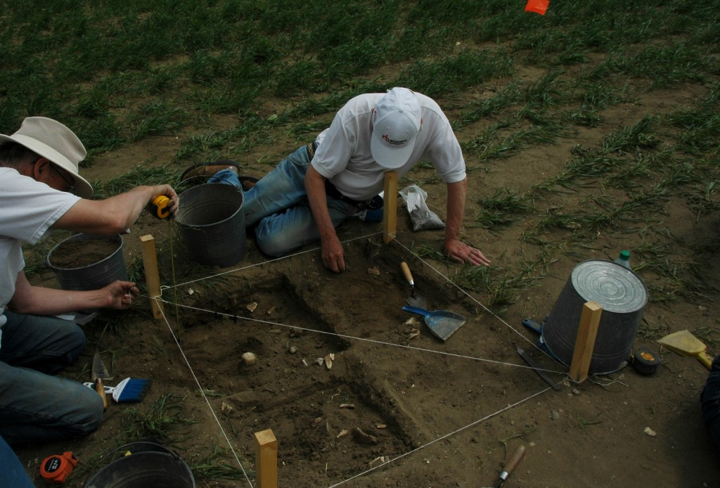 Unearthing the ancient past at the Farr Site. July 4, 2015. Photo: Kristin Catherwood