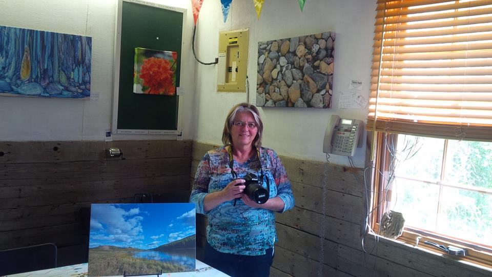 Artist-in-Residence Wendy Nuttall's armed with her artistic tool: her camera. July 26, 2015. Kristin Catherwood