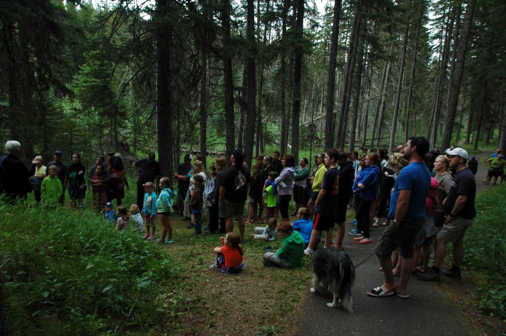 More than 100 brave souls accompanied Mimi Martin on the Haunted Happenings guided hike at Cypress Hills Interprovincial Park. July 25, 2015. Kristin Catherwood