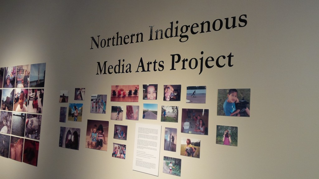 Openin of the Northern Indigenous Media Arts Project at the Mann Art Gallery, Prince Albert. August 27, 2015. Kristin Catherwood.