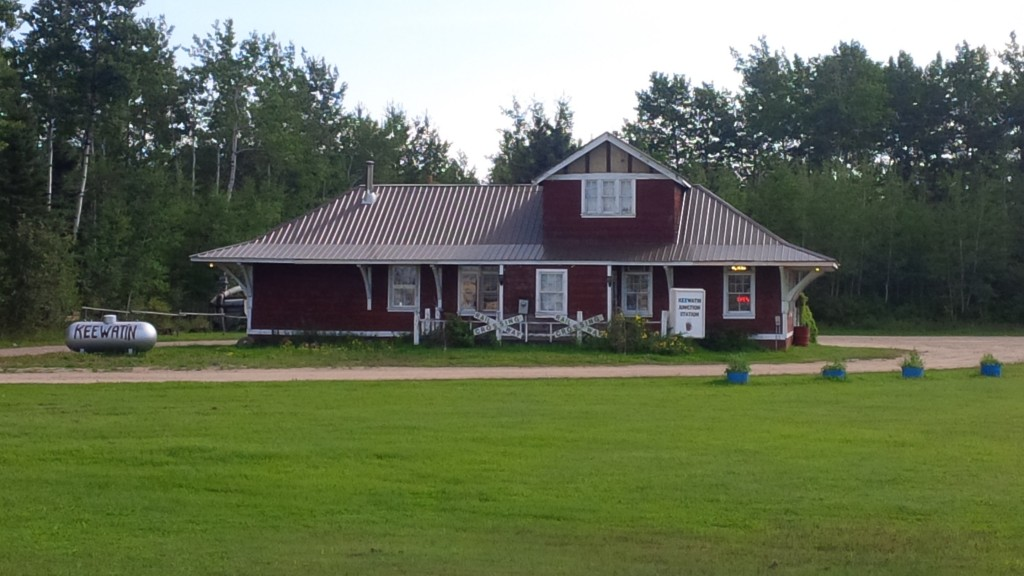 Keewatin Junction Station in Green Lake is a cafe/coffee shop as well as a Metis cultural heritage interpretive centre. August 28, 2015. Kristin Catherwood.